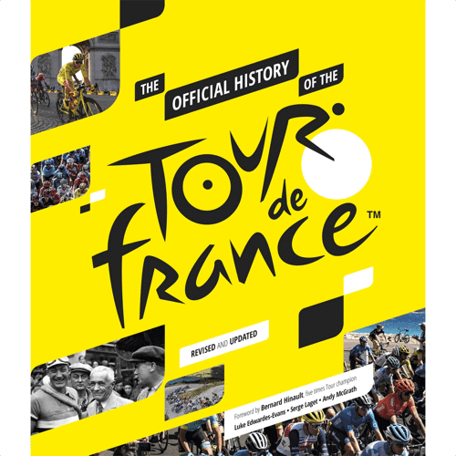 an image of the official history of the tour de france book