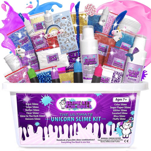 an image of the ultimate unicorn slime making kit - one of our picks of unusual unicorn gifts