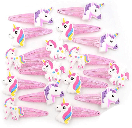 an image of a ten pack of hair clips for girls