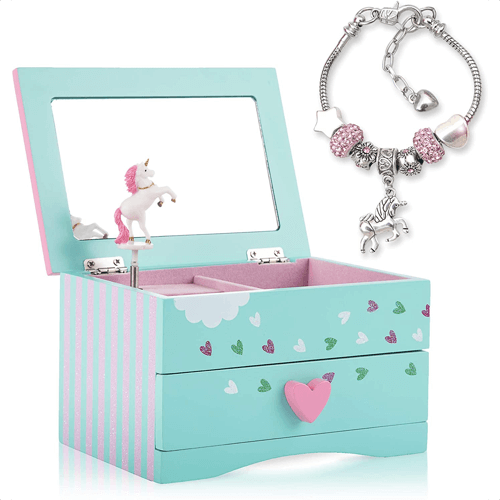 an image of a unicorn jewellery box for girls