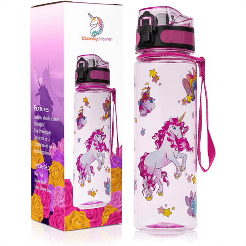 an image of a unicorn themed water bottle
