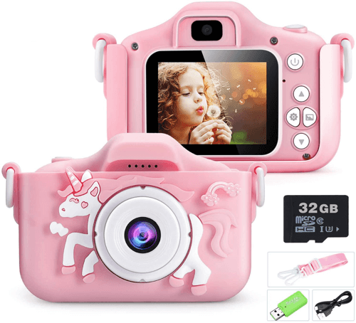 an image of a unicorn themed digital camera - one of our picks of unicorn presents for girls