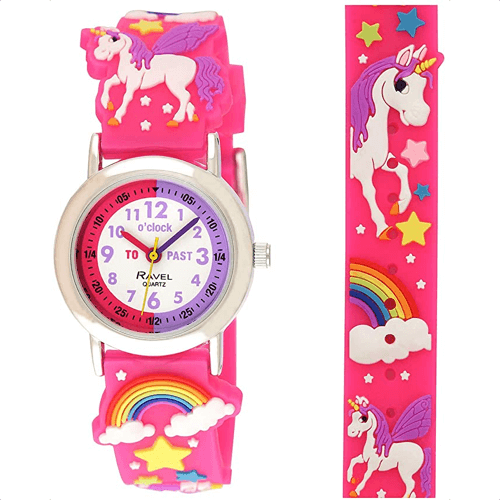 an image of a unicorn watch for children - one of our picks of unicorn gifts for kids